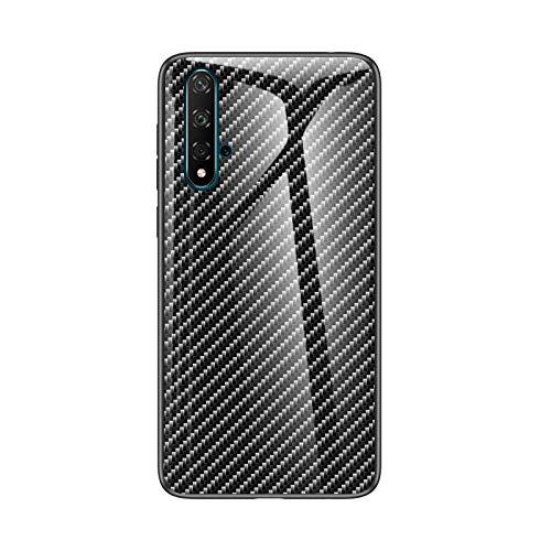 Botongda Huawei Nova 5T Hülle,9H gehärtetes Glas zurück und TPU-Rahmen Hybrid Shell Slim Anti Smudge & Kratzfeste Schutzhülle für Huawei Nova 5T-No:4