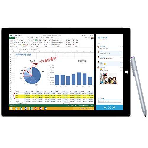 マイクロソフト Surface Pro 3 サーフェス プロ(Core i5/128GB) 単体モデル Windowsタブレット MQ2-00017 (シルバー)