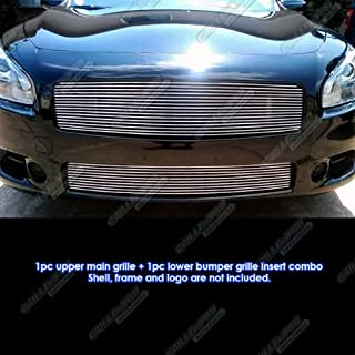 APS Compatible with 2009-2014 Nissan Maxima Billet Grille Grill Combo Insert S18-A47778N