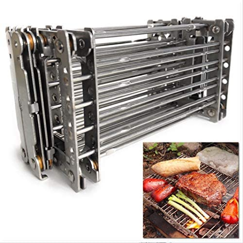 Bitty Big Q 316 Stainless Steel Ultra Compact Portable Lightweight Camping Grill product image