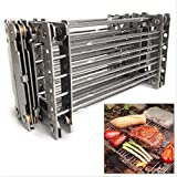 Bitty Big Q 316 Stainless Steel Ultra Compact Portable Lightweight Camping Grill