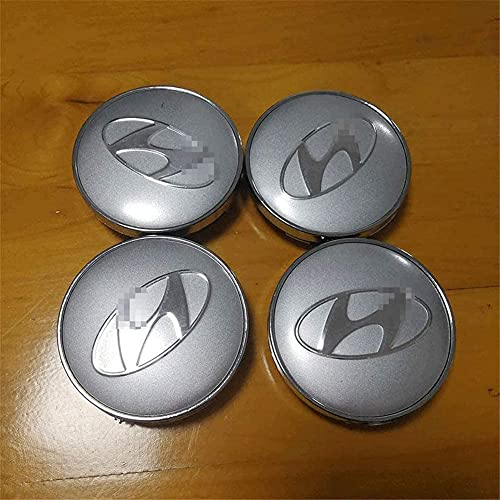 Coche Tapas Para Tapacubos Para Hyundai Sonata New Tucson 56mm,Cubierta De Centro Tapa Central De Rueda Con Logo,ProteccióN Contra El óXido,4 Unidades