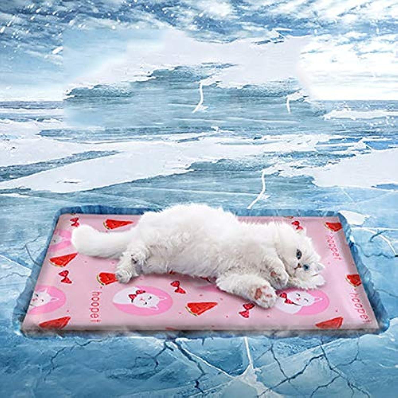 Cat Ice Pad Pet Cooling Pad Dog Mat Pet Ice Pad Cat Mat Summer Gel Bite Mat (color   B, Size   M(60  50))