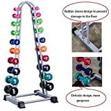 JNWEIYU 3 Tier Dumbbell Dumbbell Racks Ten Pairs Weight Rack – 10 Tier Storage A Frame Tree Rack(Color : White, Size : 56.2 56 123.2cm)