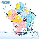 O-Kinee Pistolas de Agua, 2 Pack Chorro de Agua Squirt Gun, 250ML Super Pistola Water Gun Batalla de Agua, Playa, Piscina,Verano Juguetes de Agua Juego, Azul y Rosa