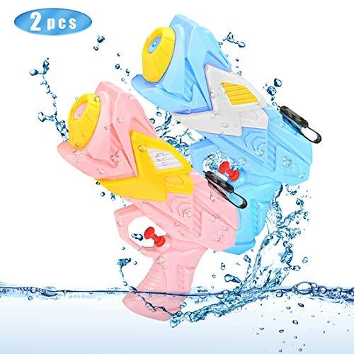 O-Kinee Pistole ad Acqua, 2 PCS Water Gun ad 250 ML on Gamma 8-10 Metri Giocattolo da Spiaggia All\'aperto Giocattoli da Acqua Estivi Piscina da Bagno Festa da Acqua per Bambini Adulti, Blu e Rosa