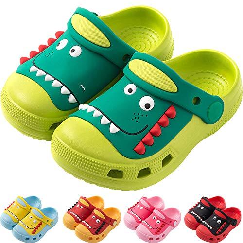 Kinder Dinosaurier Clogs Pantoletten Bequeme Sandale Mädchen Jungen Gartenschuhe Atmungsaktiv rutschfest Strand Hausschuhe
