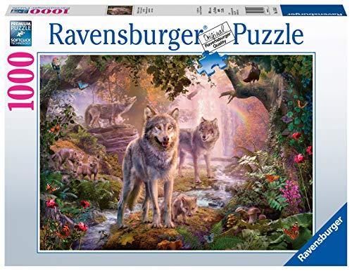 Ravensburger Puzzle 15185 - Wolfamilie im Sommer - 1000 Teile Puzzle für Erwachsene und Kinder ab 14 Jahren, Puzzle mit Wölfen