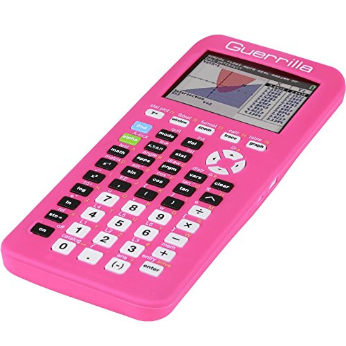 Guerrilla Silicone Case for Texas Instruments TI-84 Plus CE Color Edition Graphing Calculator With Screen protector and Graphing Ruler, Pink Photo #3