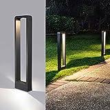 Außenleuchte 9W IP65 Anthrazit Außenbeleuchtung Stilvolle Design Außen-Standleuchte...