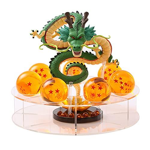 Figuras de Dragon Ball Z Luz de noche LED Serie DBZ Estatua de personajes Resina Bola de cristal Shenron Lámparas de mesa Impresión 3D PVC Anime Iluminación de escritorio Alimentación USB (Shenron)