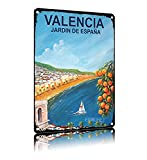 ERMUHEY Valencia Jardin De Espana Reise-Poster Vintage