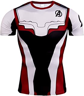 Mens Short Sleeve Spider Far From Home Compression Workouts Tee Shirt Athletic Tops