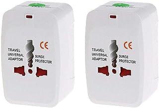 2 Pcs/Set Universal AC Power Plugs US To EU To AU To UK Worldwide Travel Adapter Converter