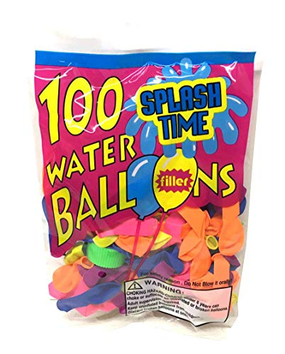 100 pcs Assorted Water Balloon with Filler in Poly Bag