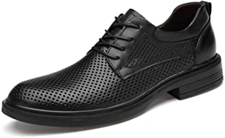 Skbiubiu Oxford Shoes For Men Formal Business Shoes Lace Up Style OX Leather Big Size Breathable Hollow Out Upper` (Color : Black, Size : 49 EU)