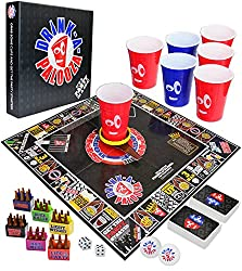 DRINK-A-PALOOZA Board Games with plastic cups, board came, cards, and box
