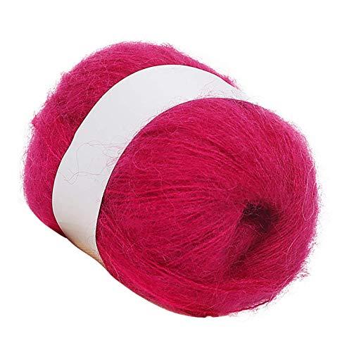 Lana que hace punto suave de cachemira natural madeja de hilo artesanal de tejer ganchillo