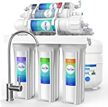 SimPure Alkaline Reverse Osmosis Water Filtration System - 6 Stage RO Remineralization Purifier - Mineral, pH +, Antioxidant – Under Sink Water Purifier - 75 GPD
