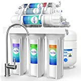 SimPure Alkaline Reverse Osmosis Water Filtration System - 6 Stage RO Remineralization Purifier - Mineral, pH +, Antioxidant – Under Sink Water Purifier - 75 GPD