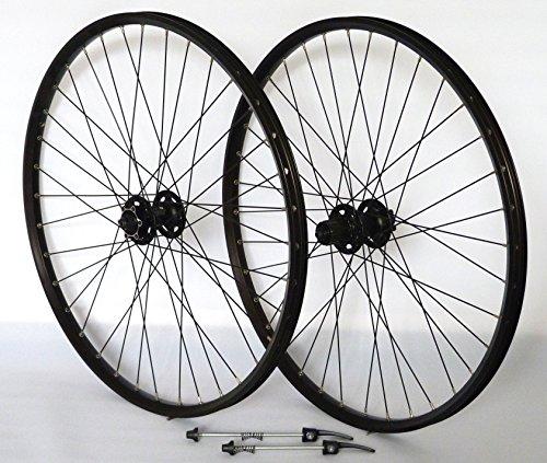 Vuelta 26 Zoll Fahrrad Laufradsatz Pro Disc Hohlkammerfelge schwarz Shimano Deore XT756 schwarz NIRO schwarz