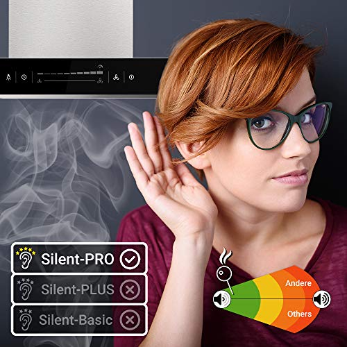 Premium-Dunstabzugshaube, Wandhaube (90cm, Edelstahl, schwarzes Glas, Extra-leise, WIFI, Energieklasse A++, 10 Stufen, LED-Beleuchtung, TouchSelect Sensortasten) FLAT9005ED – KKT KOLBE - 5