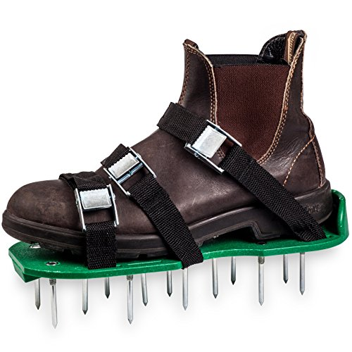 Green Toolz Lawn Aerator Shoes - Heavy Duty with Metal Buckles and 6 Straps - Spiked Sole Lawn Care Sandals Set, Aerating Tools for Your Soil, Grass or Yard- 2