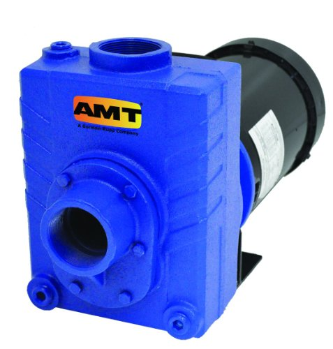 AMT Pump 2761-95 Self-Priming Centrifugal Pump, Cast Iron, 2 HP, 1 Phase, 115/230V, Curve B, 2' NPT Female Suction & Discharge Ports
