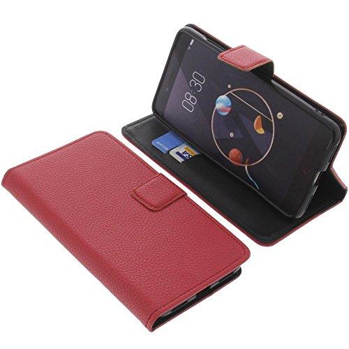 foto-kontor Tasche für Archos Diamond Alpha Book Style rot Schutz Hülle Buch