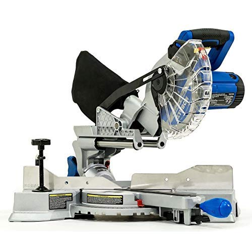 Kobalt Compact Sliding 7-1/4-in 10-Amp Single Bevel Sliding Laser Compound Miter Saw