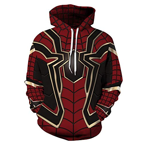 TAKUSHI HF Unisex Fashion Galaxy 3D Digital Printed Pullover Hoodies Hooded Sweatshirts for Sport and Party(Spiderman,S/M)