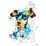 Agua Colores Tattoo perro colores Fake Tattoo una vez Tattoo para pegar km115