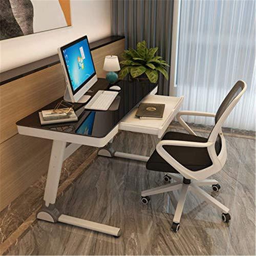 Living Equipment Escritorio para juegos Juego de mesa y silla para computadora Escritorio de escritorio para el hogar Mesa de juegos moderna y simple Escritorio de vidrio templado Estaciones de tra