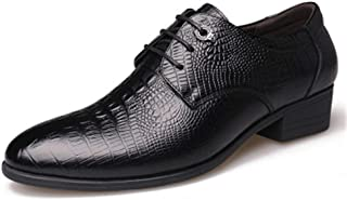 Mens Leather Tuxedo Dress Shoes Lace up Pointed Toe Oxfords Wedding Shoes