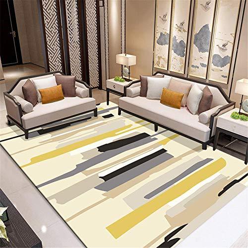 Zhaopai yogamat, slaapkamertapijt, laagpolige pool, vochtbestendig, mijtdicht, geometrische abstractie 80x160cm(2'7''x5'3'')