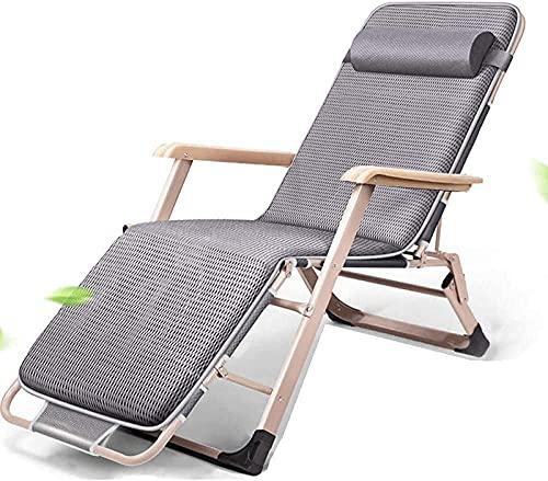 Sillón de salón reclinación reclinación plegable al aire libre tumbonas reclinable, silla de gravedad cero plegable patio reclinable ajustable anti gravedad salón sillón Patio plegable ajustable silla