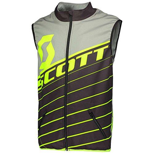 Scott Enduro Motorrad/Fahrrad Weste schwarz/grau/gelb 2018: Größe: L (50/52)