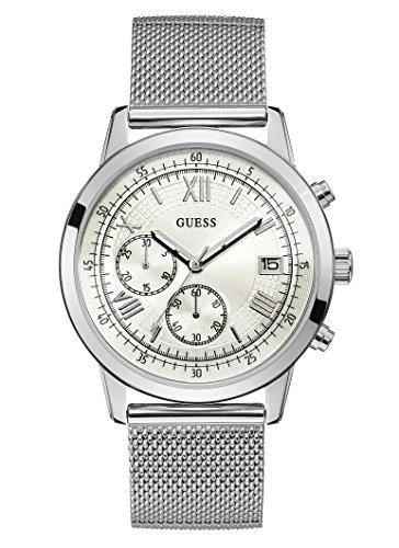 Guess Reloj Cronógrafo para Hombre de Cuarzo con Correa en Acero Inoxidable W1112G1