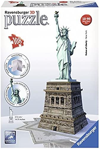 Ravensburger Statue of Liberty - 3D Puzzle (108-Piece) by Ravensburger