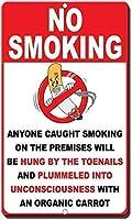 安全標識目新しさの標識禁煙ヴィンテージティンウォールサインレトロアート鉄塗装金属警告プラークカフェバースーパーマーケットカフェテリアホーム