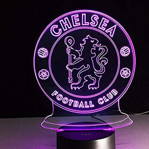 7 farbe led chelsea football club 3d lampe usb cool leuchtende basis dekoration tischlampe kinder schlafzimmer nachtlichter