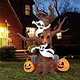 Joiedomi Halloween 8 FT Inflatable Scary Tree with Build-in LEDs Blow Up...