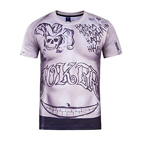NBWS Hommes et Femmes T-Shirt à Manches Courtes 2020 éTé 3D Creative Spoof Muscle Hommes Et Femmes Imprimé Mode Coton Casual Col Rond T-Shirt à Manches Courtes Sweat