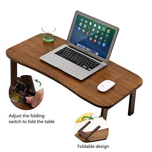 Opvouwbare tafel voor bed Computer Bureau Opvouwbare Bureau Op Bamboe Bed Slaapkamer Dressoir Student Schrijven Bureau Gemakkelijk te dragen