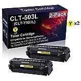 Confezione da 2 cartucce toner compatibili ad alta resa CLT-503L CLT-Y503L per stampante Samsung ProXpress SL-C3010DW SL-C3010ND SL-C3060FR