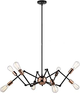 Harriet Modern 8-Light Sputnik Chandelier, Starburst Mid...