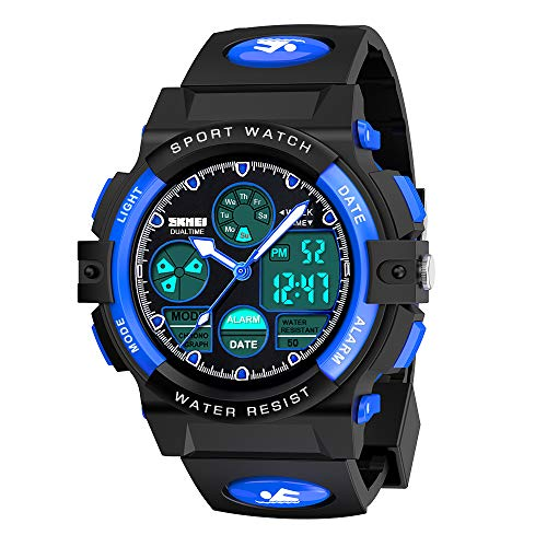 My-My Outdoor Toys for 5-12 Year Old Boys, LED 50M Waterproof Digital Sport Watches for Kids Birthday Presents Gifts for 5-12 Year Old Boys Toys Age 5-12 ZHBlue MMUSPW01