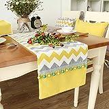 Tischläufer Gelb gestreiften Peugeot Nordic Tisch Fahnen Moderne Einfache Esstisch Tischläufer ( größe : 33*200cm )