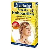 Zirkulin Propolis Halspastillen, zuckerfreie Lutschpastillen gegen leichte Halsschmerzen und Kratzen...