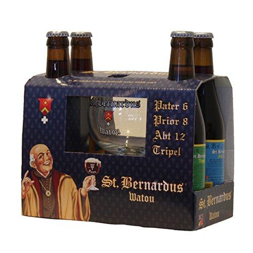 St. Bernardus Biergeschenke Geschenke Bierbox 4 x 0,33l flaschen craft beer + glas Belgisches bier